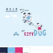 Link toFunny cartoon dog vector material 01