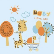 Link toCartoon giraffe baby card vector