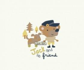 Cute Cartoon animals vector graphics