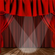 Link toLuxurious red curtain vector 02