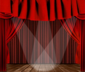 luxurious Red Curtain vector 02