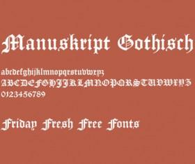 Retro Gothic font
