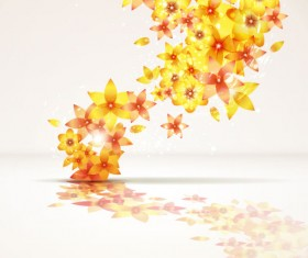 Abstract Flowers Creative vector 02