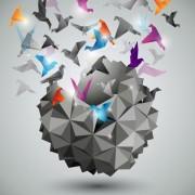 Link toConcept paper cranes vector backgrounds 01