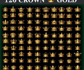 120 kind Golden crown vector