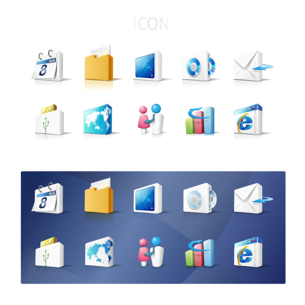 Business elements icon vector