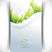 Link toBright green leaves card vector 02