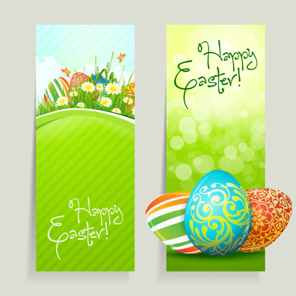 Green style Easter design elements vector 01