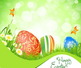 Green style Easter design elements vector 02
