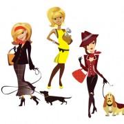 Link toStylish cartoon characters 09 vector