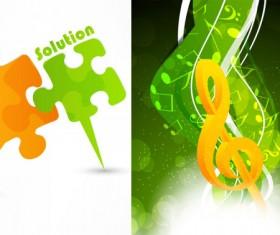 Creative Music notation design vector