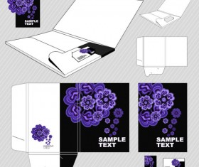 Set of Business identity Kit template design vector 05