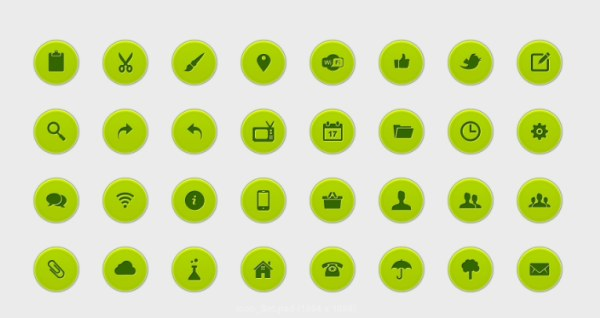 Green commonly web icon