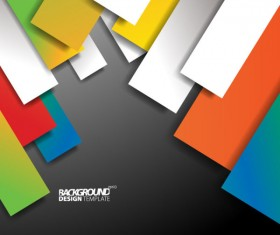 Set of Colored shapes backgrounds vector 02
