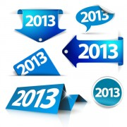 Link toBlue 2013 label and stickers vector