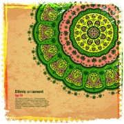 Link toIndian style floral ornament vector graphics 02