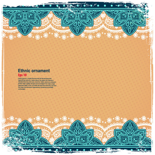 Indian Wedding Food Menu Samples: Indian Style Floral Ornament Vector Graphics 05 Free Download
