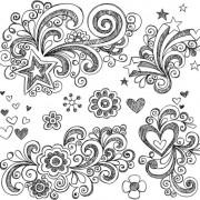Link toHand drawn floral decor design vector set 02