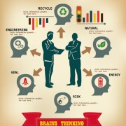 Link toBusiness people with business infographics design vector 04