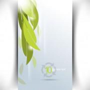 Link toBright green leaves card vector 01