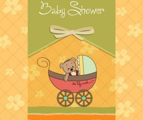 Cute Child style card vector graphics 02