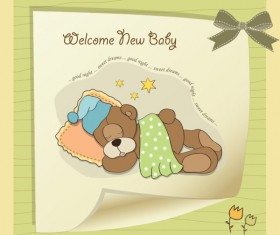 Cute Child style card vector graphics 03