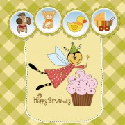 Link toCute child style card vector graphics 04