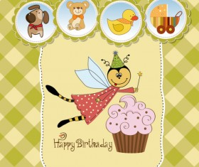 Cute Child style card vector graphics 04