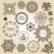 Link toVintage floral accessories and borders vector 01