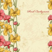 Link toVintage flower vector background art