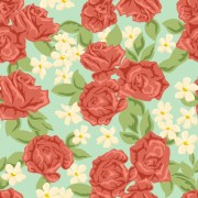 Link toRed flower seamless pattern vector graphic