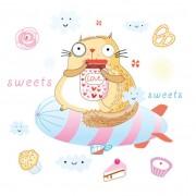 Link toFunny cartoon animal illustration vector 01