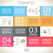 Link toInfographics with data design vector 01