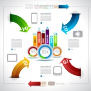 Link toInfographics with data design vector 04