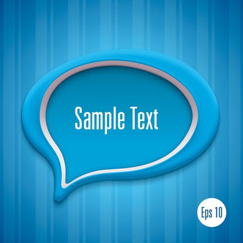 3d Speech Bubble Vector Template 02 Vector Label Free