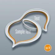 Link to3d speech bubble vector template 05
