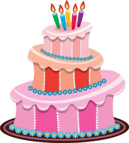 Set Of Birthday Cake Vector Material 01