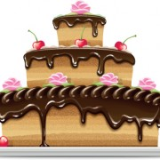 Link toSet of birthday cake vector material 03