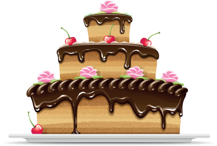 Set of Birthday cake vector material 03 free download