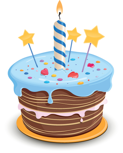 Birthday Cake Pictures Of Cartoon : Set of Birthday cake vector material 04 - Vector Birthday ...