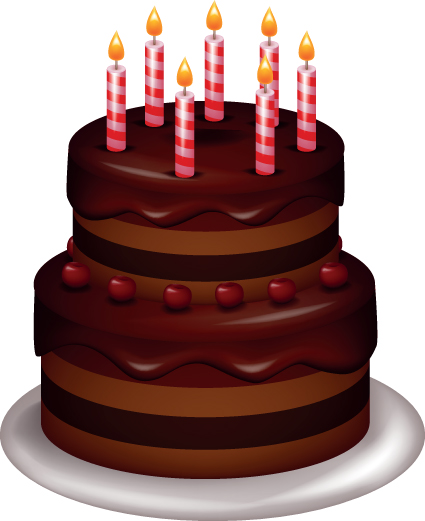 Cake Pictures Vector : Birthday gift for my/our special friend 4184208 Fan ...