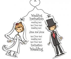 Bride with groom design vector 01