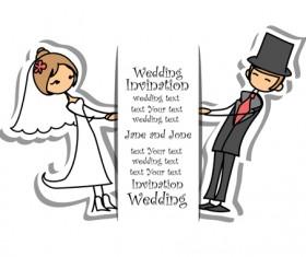 Bride with groom design vector 02