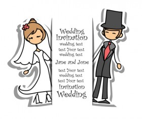 Bride with groom design vector 03