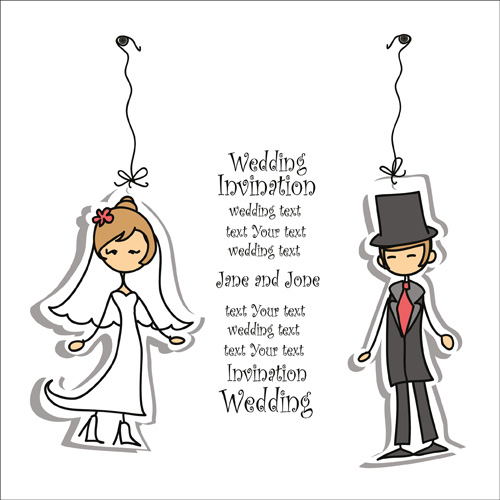 Bride with groom design vector 04