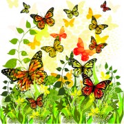 Link toBeautiful butterfly vector material 01
