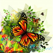 Link toBeautiful butterfly vector material 02