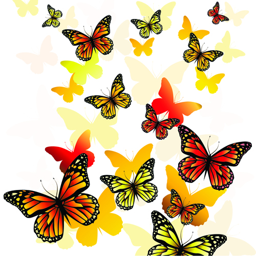 Beautiful butterfly vector material 04