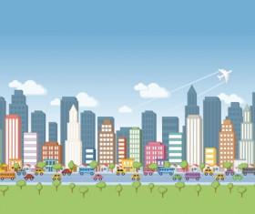 Cartoon City Landscape vector 01