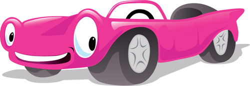 Funny Color Cartoon cars vector 01